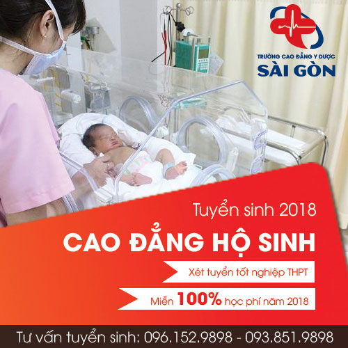 Trường Cao đẳng y dược Sài Gòn thông báo tuyển sinh Cao đẳng Hộ sinh