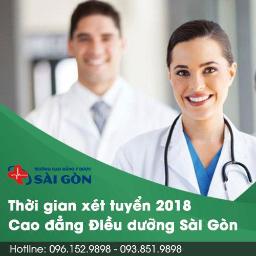 Thời gian xét tuyển hồ sơ học Cao đẳng Điều dưỡng 2018