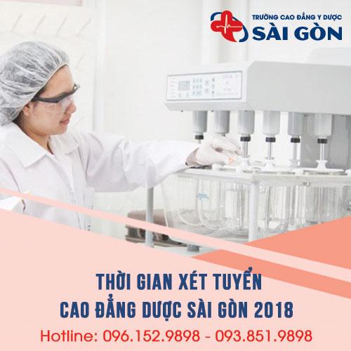 Thời gian xét tuyển Cao đẳng Dược TPHCM năm 2018