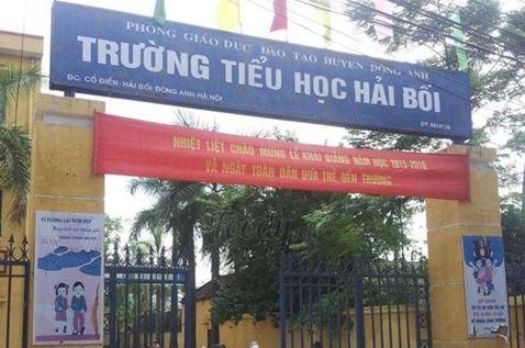 Trường Tiểu học Hải Bối nơi diễn ra vụ bê bối