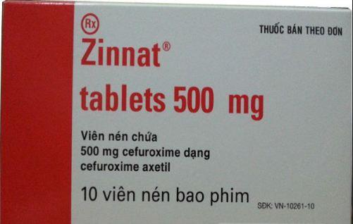 Thông báo rộng rãi đến người dân tránh sử dụng thuốc Zinnat 500mg giả