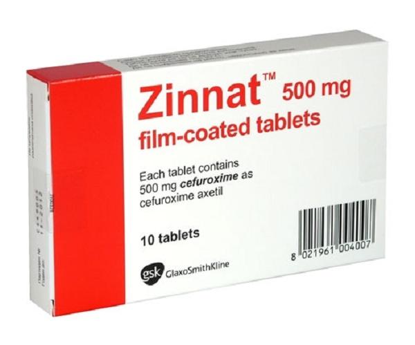 Tác dụng phụ của thuốc zinnat tablets 500mg